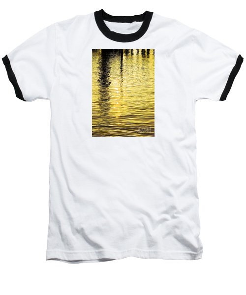 Citrine Ripples Baseball T-Shirt by Chris Anderson