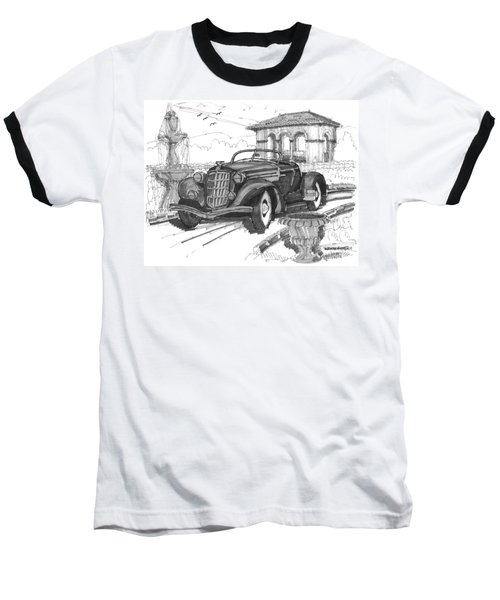 Classic Auto With Formal Gardens Baseball T-Shirt