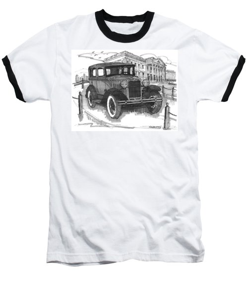 Classic Auto With Mills Mansion Baseball T-Shirt