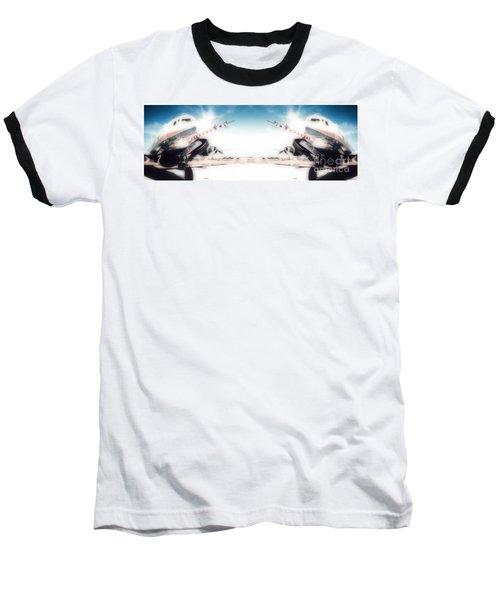 Baseball T-Shirt featuring the photograph Propeller Aircraft by R Muirhead Art