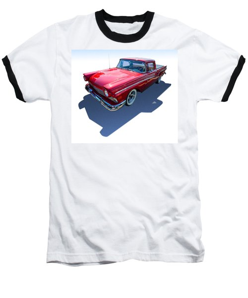 Baseball T-Shirt featuring the photograph Classic Red Truck by Gianfranco Weiss