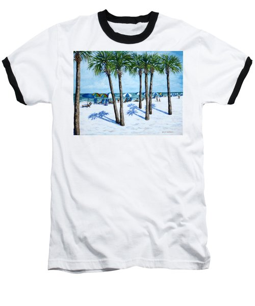 Baseball T-Shirt featuring the painting Clearwater Beach Morning by Penny Birch-Williams