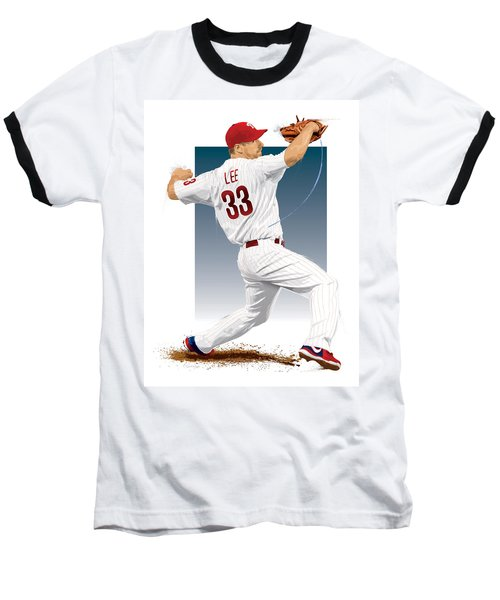 Cliff Lee Baseball T-Shirt by Scott Weigner