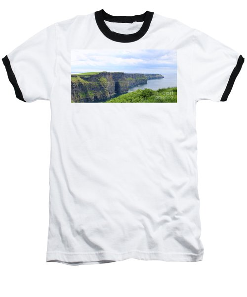 Cliffs Of Moher Panorama 3 Baseball T-Shirt