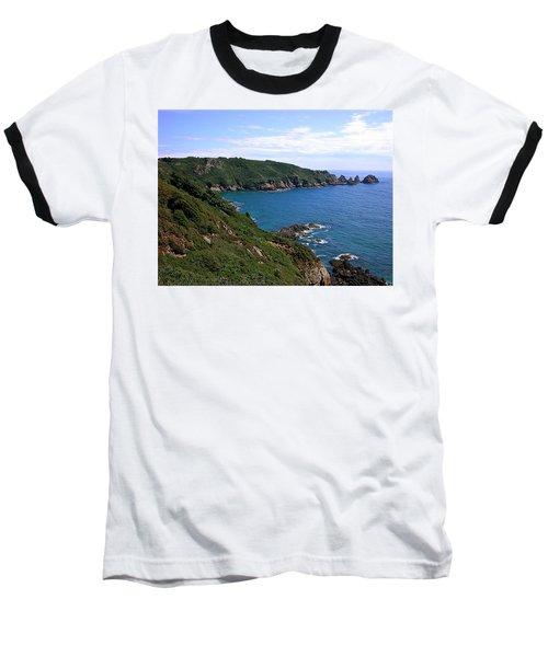 Cliffs On Isle Of Guernsey Baseball T-Shirt