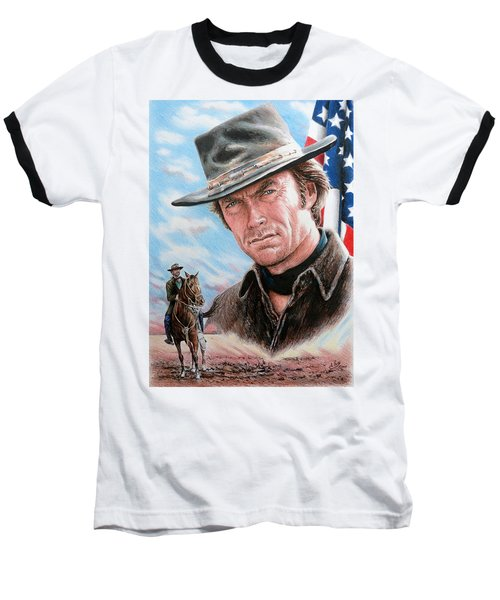 Clint Eastwood American Legend Baseball T-Shirt