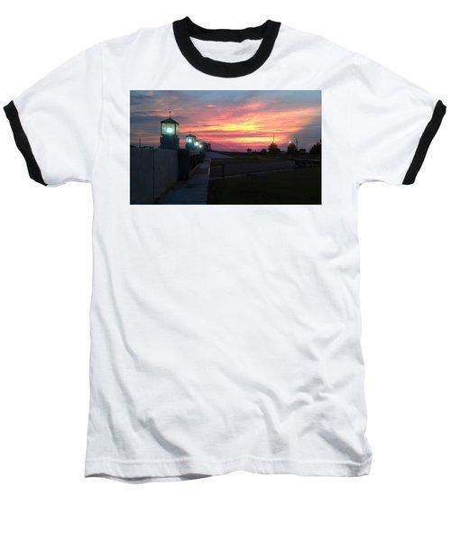 Closed Flood Gates Sunset Baseball T-Shirt