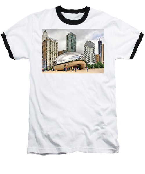 Cloud Gate In Chicago Baseball T-Shirt
