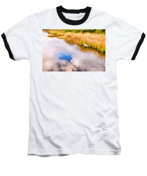 Cloud Reflection In Water Digital Art Baseball T-Shirt