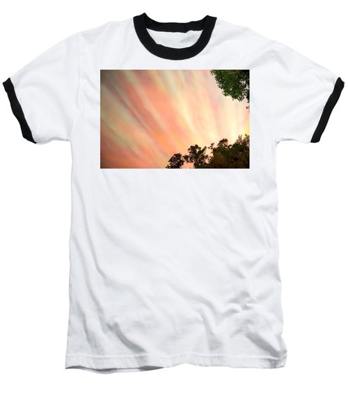 Baseball T-Shirt featuring the photograph Cloud Streams by Charlotte Schafer