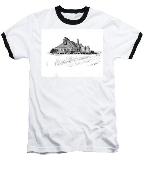 Coast Guard Station 1 Ocracoke 1970s Baseball T-Shirt