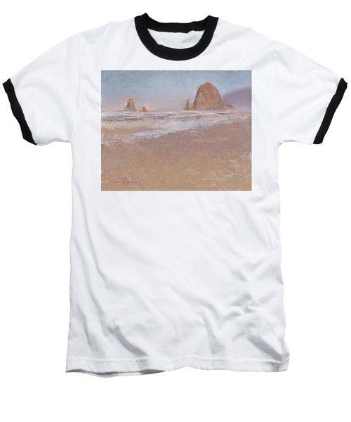 Coastal Escape  Cannon Beach Oregon And Haystack Rock  Baseball T-Shirt
