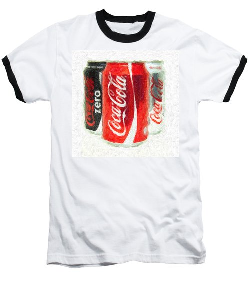 Coca Cola Art Impasto Baseball T-Shirt