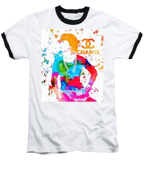 Coco Chanel Paint Splatter Baseball T-Shirt