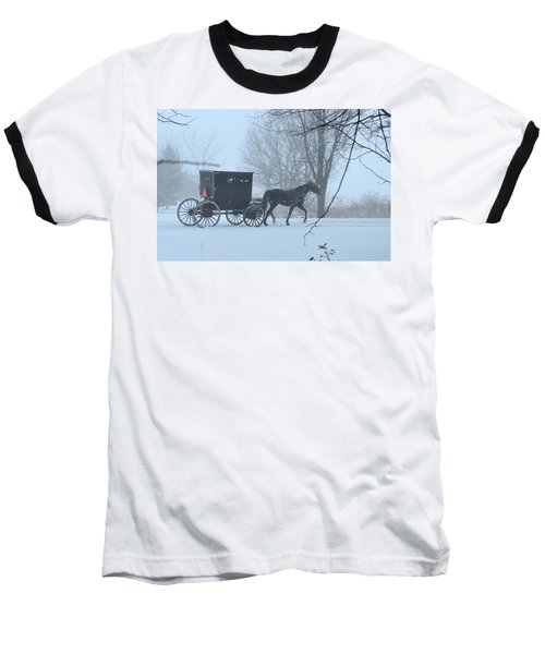 Cold Amish Morning Baseball T-Shirt