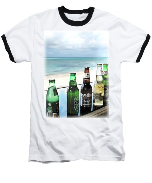Cold Beers In Paradise Baseball T-Shirt by Joan  Minchak