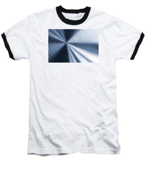 Cold Blue Metallic Texture Baseball T-Shirt