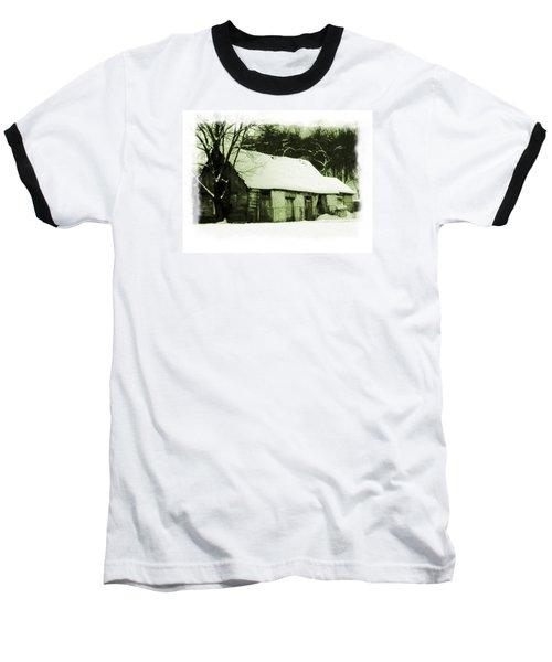 Baseball T-Shirt featuring the photograph Countryside Winter Scene by Nina Ficur Feenan