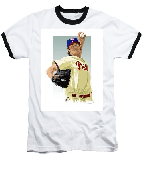 Cole Hamels Baseball T-Shirt by Scott Weigner