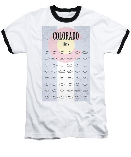 Colorado 14ers Poster Baseball T-Shirt