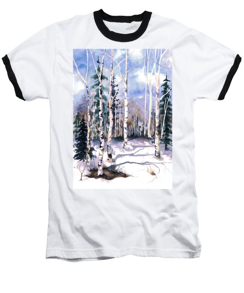 Colorado Aspens 2  Baseball T-Shirt by Barbara Jewell