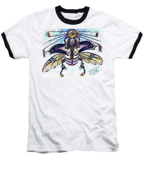 Colored Cultural Zoo B Sacred Scarab Baseball T-Shirt