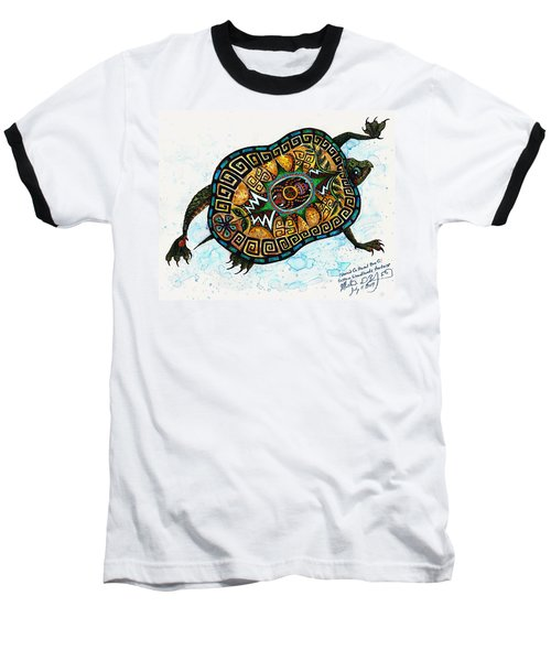 Colored Cultural Zoo C Eastern Woodlands Tortoise Baseball T-Shirt