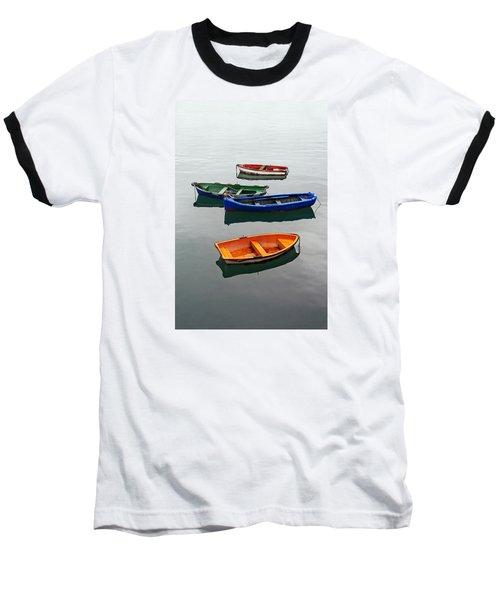 colorful boats on Santurtzi Baseball T-Shirt