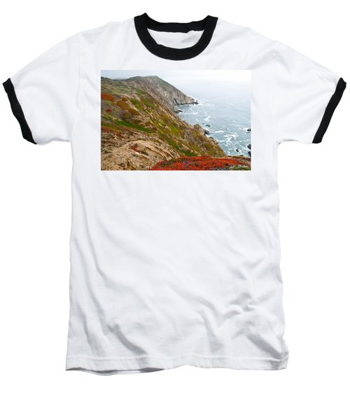 Baseball T-Shirt featuring the photograph Colorful Cliffs At Point Reyes by Jeff Goulden