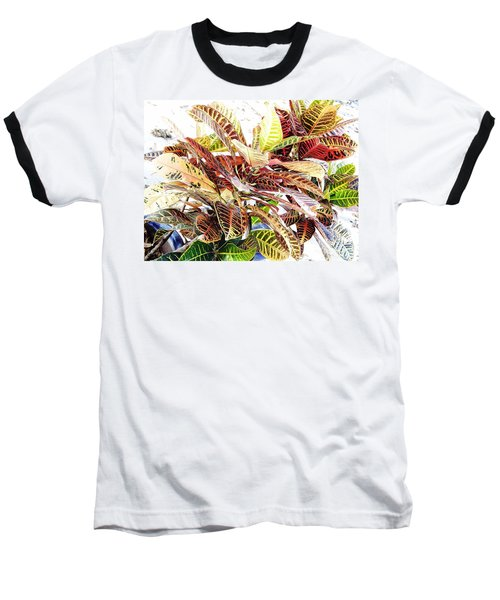 Colorful - Croton - Plant Baseball T-Shirt
