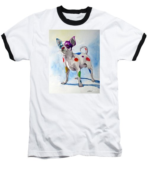 Colorful Dalmatian Chihuahua Baseball T-Shirt