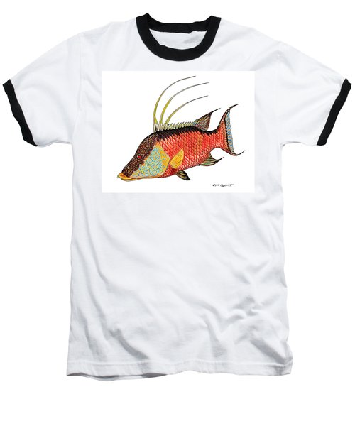 Colorful Hogfish Baseball T-Shirt