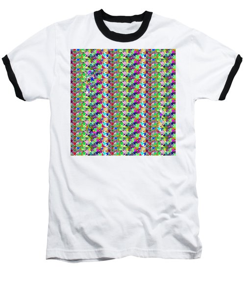 Baseball T-Shirt featuring the photograph Colorful Star Graphics Decorations by Navin Joshi
