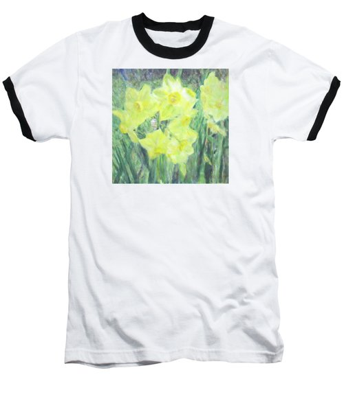 Colorful  Yellow Flowers Baseball T-Shirt