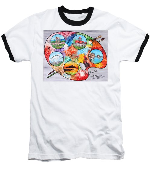 Colori Di Sicilia Baseball T-Shirt by Loredana Messina