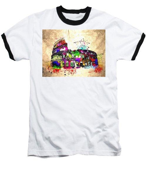 Colosseo Grunge  Baseball T-Shirt by Daniel Janda