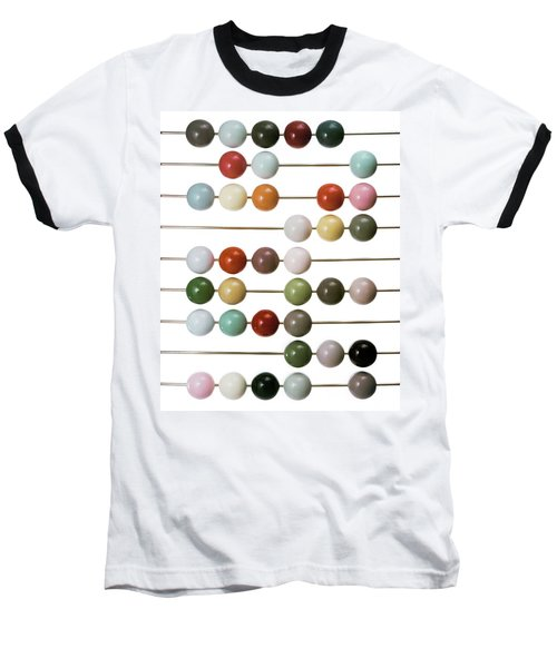 Colourful Beads On Metal Rods Baseball T-Shirt