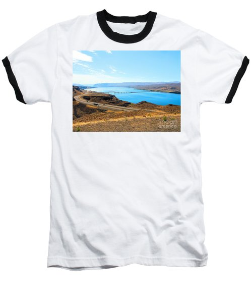 Columbia River From Overlook Baseball T-Shirt