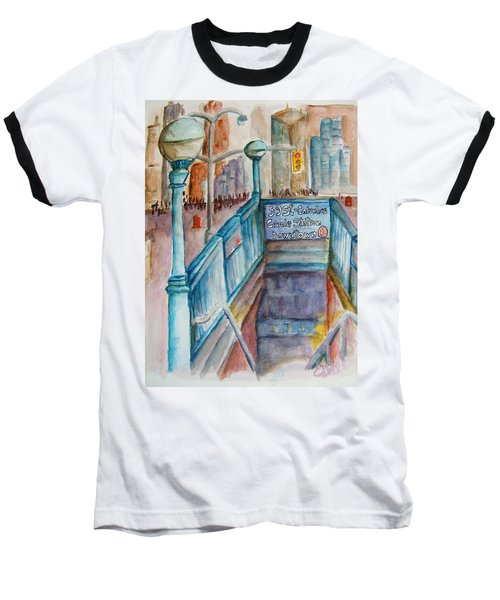 Columbus Circle Subway Stop Baseball T-Shirt