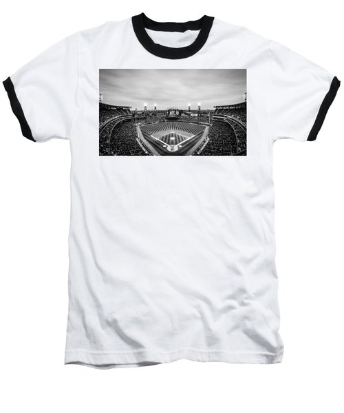 Comiskey Park Night Game - Black And White Baseball T-Shirt