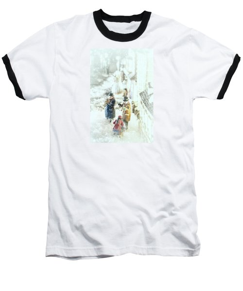 Concert In The Snow Baseball T-Shirt by Caitlyn  Grasso
