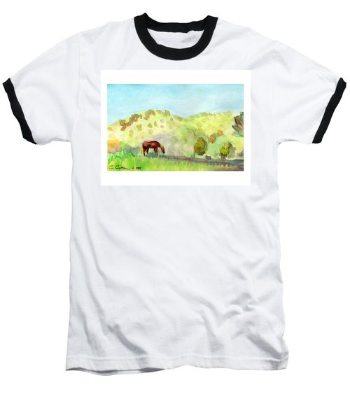 Baseball T-Shirt featuring the painting Cool Drink by C Sitton