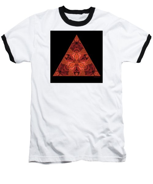 Baseball T-Shirt featuring the digital art Copper Triangle Abstract by Judi Suni Hall