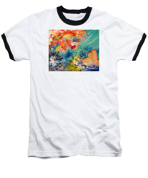 Coral Madness Baseball T-Shirt by Lyn Olsen