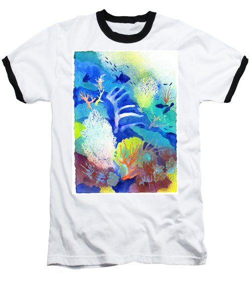 Coral Reef Dreams 3 Baseball T-Shirt