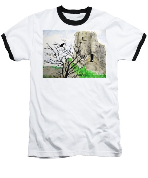 Corfe Castle And Crow Baseball T-Shirt