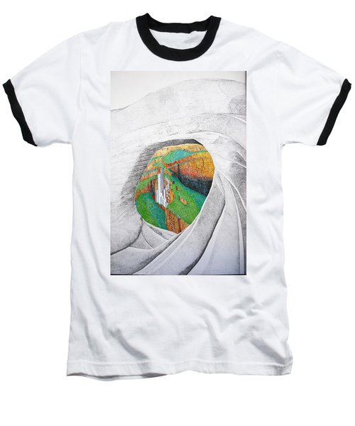 Baseball T-Shirt featuring the painting Cornered Stones by A  Robert Malcom