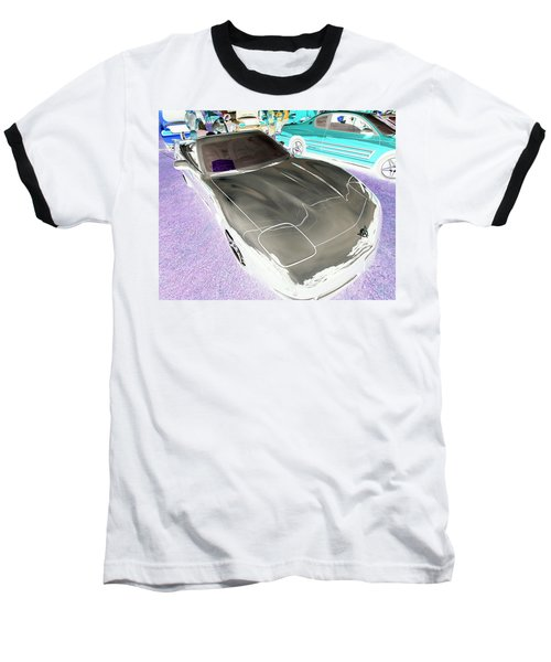 Baseball T-Shirt featuring the photograph Corvette 2003 50th Anniv. Edition by John Schneider