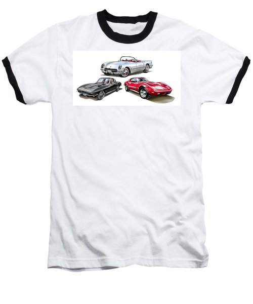 Corvette Generation Baseball T-Shirt