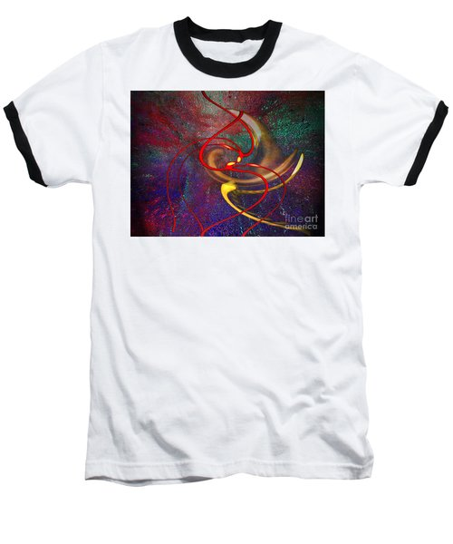 Cosmic Kiss Baseball T-Shirt by Cedric Hampton